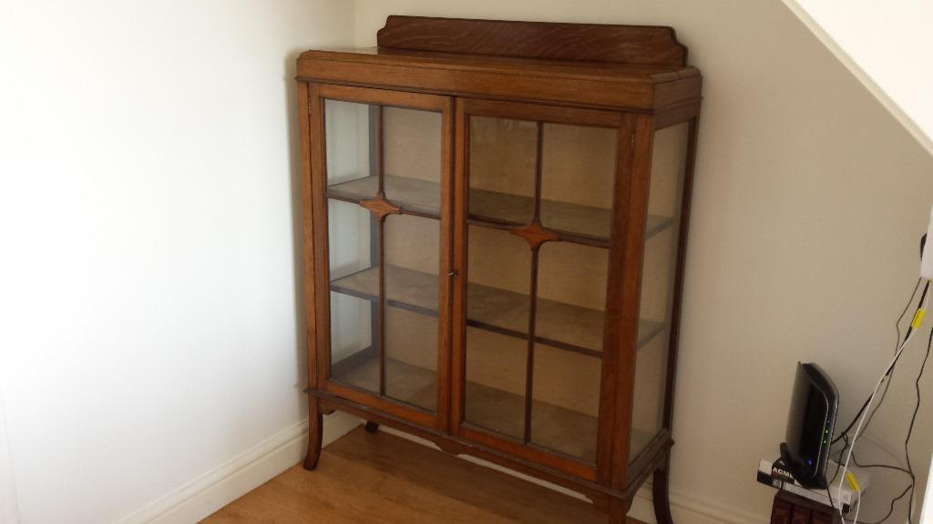 Antique Wooden Glass Display cabinet in Stapleton  : 86 from www.gumtree.com size 1024 x 576 jpeg 38kB