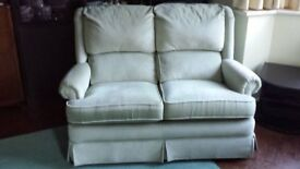 2 Seater Sofa in Fresh Pale Green Crushed Velvet - Good back support and height for ease of access