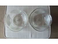 Pair of vintage trifle/jelly/ fruit bowls