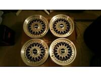 Genuine BBS RS wheels 5x114 Jap alloys rim scene rare.