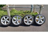 """Audi 18"""" s line alloys with excellent tires"""