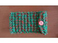 Handmade Red and green mobile phone case
