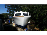 21ft cabin motor boat and 10ft inflatable dinghy