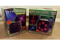 2 x American dj TRI PHASE lights