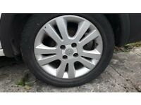 vauxhall alloys with tyres 205 50 16