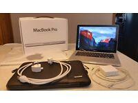 13 inch Macbook Pro ( Intel i7, 8GB RAM, 750GB HDD) with Box and Soft Case