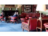 THE LONDON REFORM CLUB ST JAMES 3 X ANTIQUE OXBLOOD GENTLEMEN ARMCHAIRS + SPARE MATERIAL FOR REPAIRS