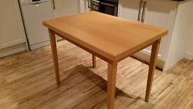 Beech dining table - extendable
