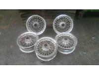 Set of 5 vintage spoke wheels. Great restoration project. £275