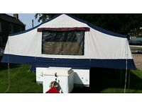 4 birth conway folding camper very good condition complete kitchen and awning 600kg tw