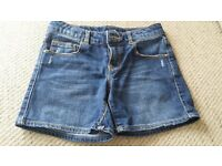 Zara girl denim shorts