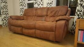 Reclining Fabric 3 & 2 Seater Sofas with Reclining Rocking Chair