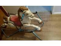1950s tin horse