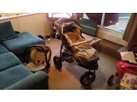 Pram & car seat combi for sale