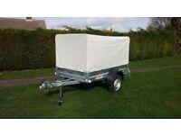 NEPTUN 7'x4' 750kg CAR TRAILER (trailor) + REMOVEABLE CANOPY BRAND NEW