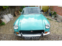 MGB GT Aqua Blue 3 Door Sports Coupe - with Overdrive