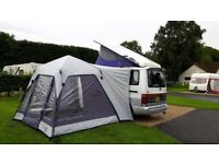 Mazda Bongo 4 berth Campervan with auto coolant alarm, side conversion & drive-away awning.