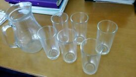 Ravenhead jug and 6 x tumblers un used as new