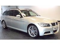 2007 07 BMW 320D M SPORT TOURING ESTATE 5D DIESEL *PART EX WELCOME*FINANCE AVAILABLE*WARRANTY*