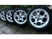 2014 fiesta zetec alloys and snow tyres
