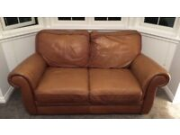 (3 sofas best offer gets them) italian tan leather suite