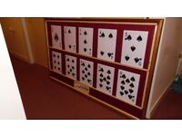 Play Your Cards Right Game Board and set of large A4 size playing cards For Pub Quizzes