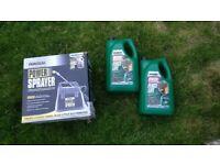 Ronseal power sprayer & 2x 5L Dark Oak Fence Life paint