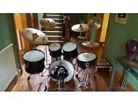 Pearl EX Export Series Drum Set with hardware and Zildjian ZXT cymbals