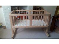 Aladin Co-Sleeper Cot. With mattress Newborn.