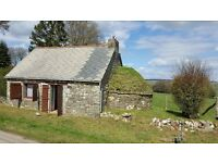 CHEAP DETACHED COTTAGE, 3000sqM (3/4 acre) GARDEN. RURAL LOCATION IN BRITTANY, STUNNING VIEWS.