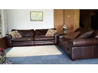 (Available) Leather Sofas 4 + 2 (16) ~ Can Deliver