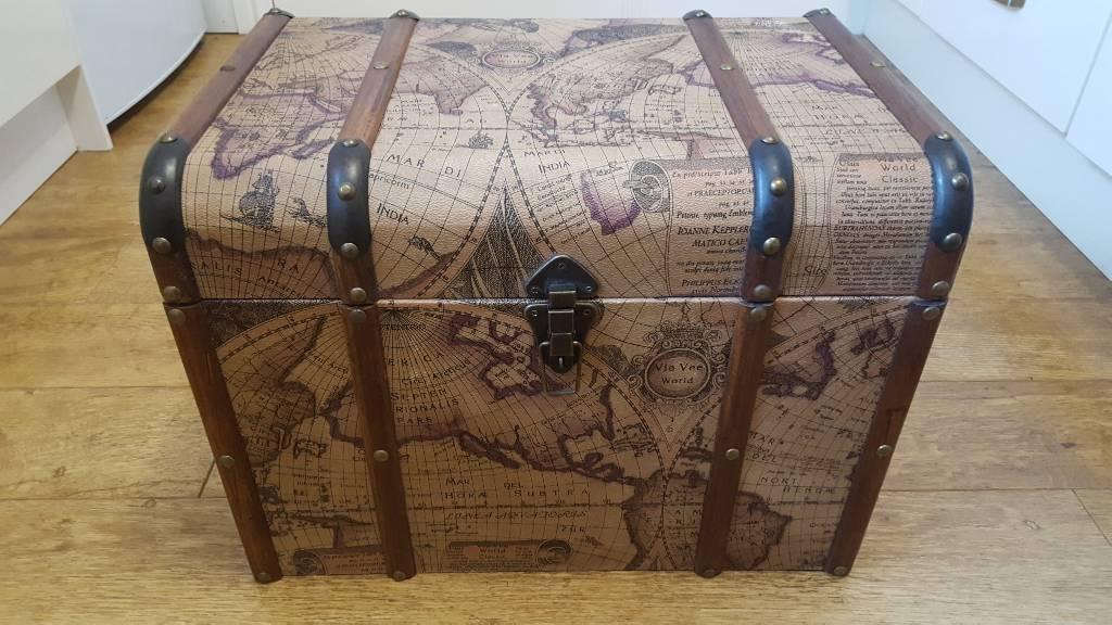 Decorative wooden storage chest