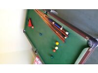 6 X 3 Foot Slate Snooker Table
