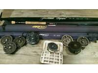 Fly Fishing rods and reels job lot