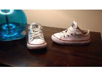 infant size 6 converse & adidas superstars