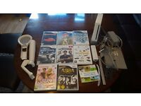 Wii Console with remote 9 games + sport acces