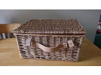 Picnic Hamper Basket, Wicker