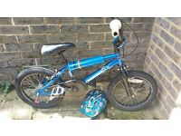 16 inch blue Diamond Back bike with helmet
