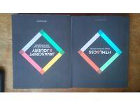 Jon Duckett HTML/CSS & Javascript/Jquery textbooks - Nearly New