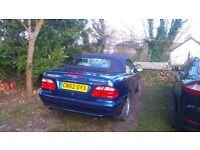 Mercedes Benz 230 CLK Elegance Kompressor electric blue the best colour grey leather & carpets.