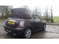 ** REDUCED **Unique, rare and beautiful Hot Chocolate MINI Convertible 1.6 Cooper D CHILI PACKAGE.