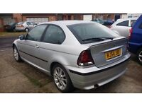 BMW 3 SERIES 316TI COMPACT -- LOW MILEAGE & FULL SERVICE HISTORY