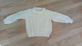 Hand knit kids jumper