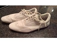 SCHMOOVE TRAINERS in good conditions, lather, was £150 onlyk £24!!!! SIZE 43
