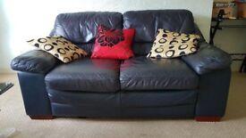 2 Seater Real Leather Sofa - Real Italian Leather