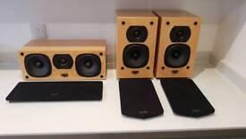Quad Q11L and centre speakers