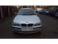 BMW 3 SERIES 318I 2002 AUTOMATIC 5 DOOR SILVER CHEAP/BARGAIN