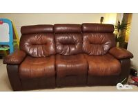 FREE!!!! 3 seater leather reclining sofa