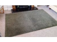 Lovely Ikea 'Adum' Rug in Forest Green
