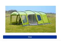 Vango Nadina 600 6-person tent inc footprint & carpet + Extra side awning and bedroom carpets